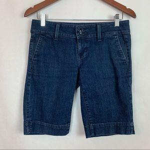 American Eagle Blue Jean Denim Bermuda Shorts 4